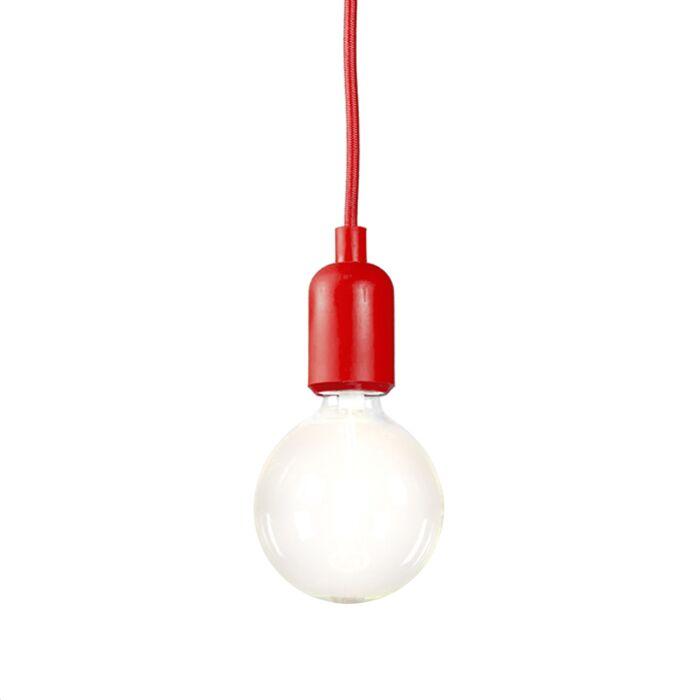 Minimalistisk-taklampa-'Cava'-Moderna-röd/tyg---Passande-för-LED-/-Inomhus
