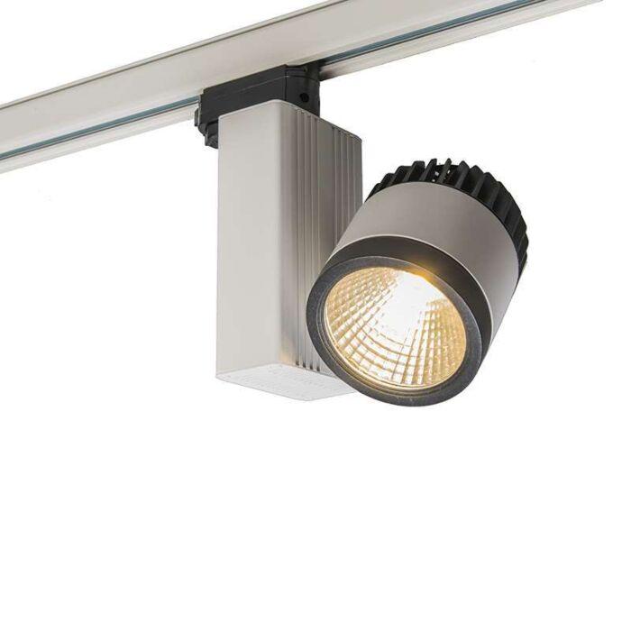 3-fas-samlingsskena-strålkastare-'Ruler-II-25W'-Moderna-vit/aluminium---LED-inkluderat-/-Inomhus