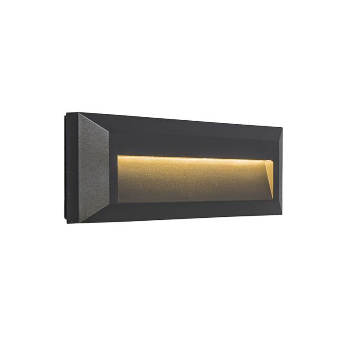 Vägglampa-'Rock-1'-Moderna-grafit/polyester---LED-inkluderat-/-Utomhuslampa,-Inomhus