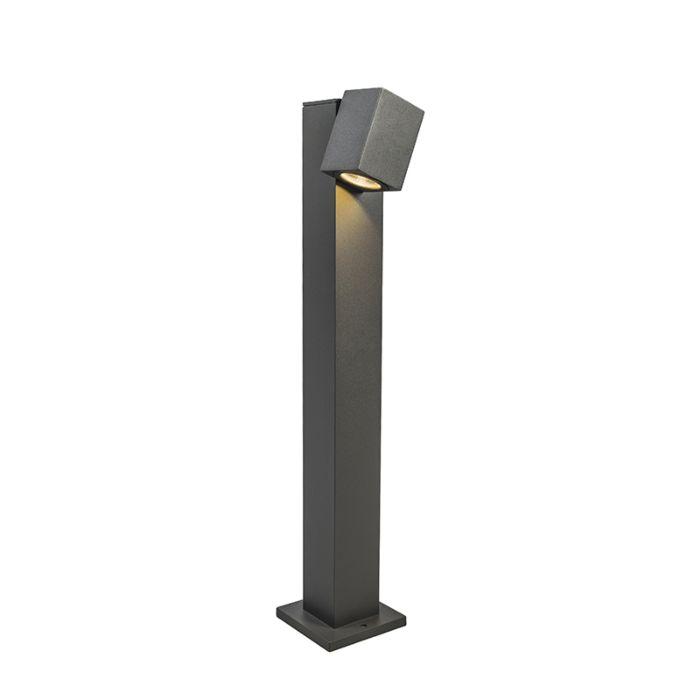 Lykta-till-gång-och-terrass-'Baleno-65'-Moderna-grafit/aluminium---LED-inkluderat-/-Utomhuslampa