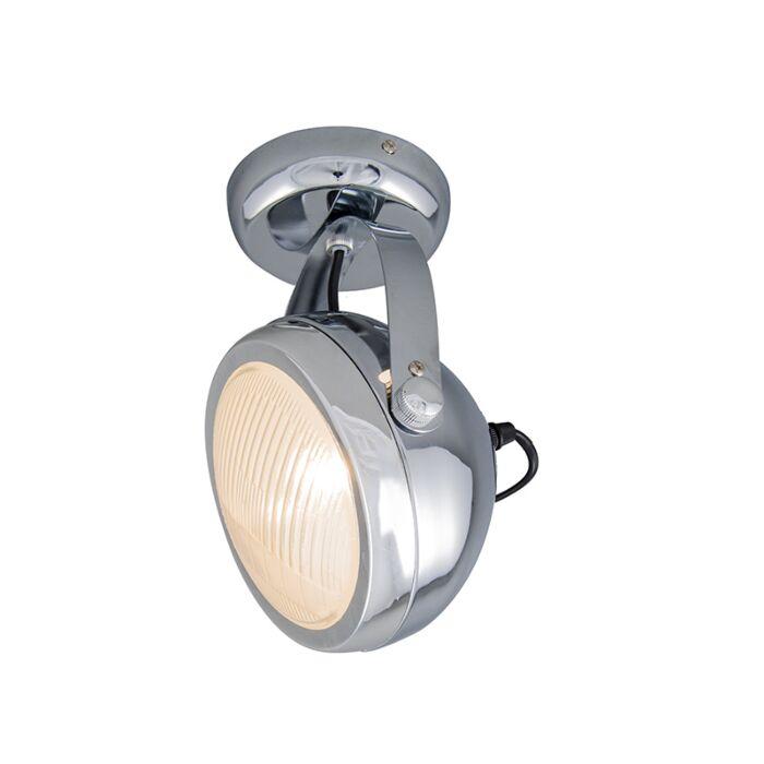 Vägg-och-plafond-strålkastare-'Biker-1'-Retro-krom---Passande-för-LED-/-Inomhus