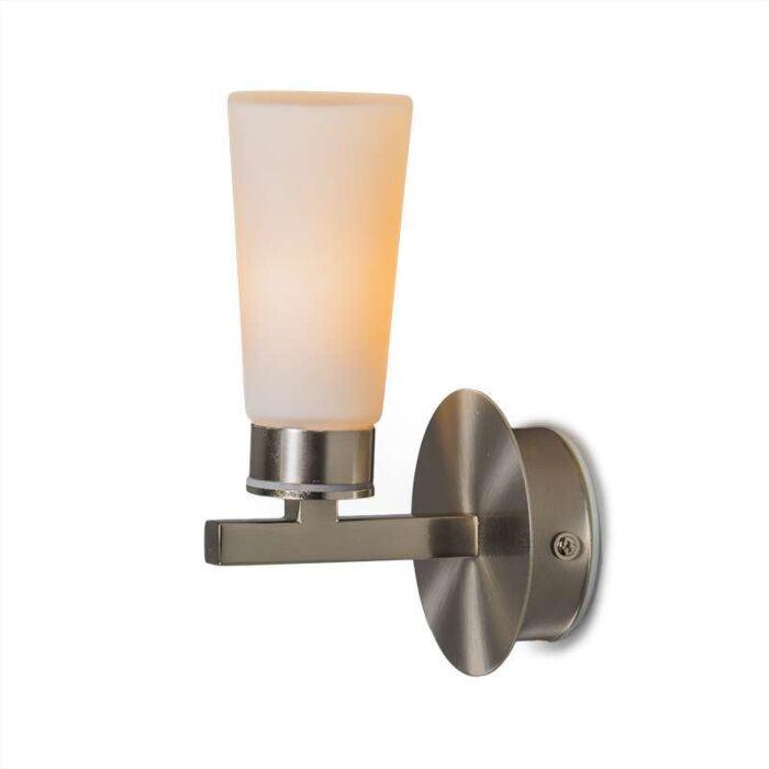 Vägglampa-'Simas-1'-Moderna-stål---Inomhus,-Badrum