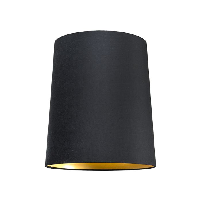 Lampskärm-'35cm-R-SU-E27'-Nej-svart/tyg-Passande-för-LED