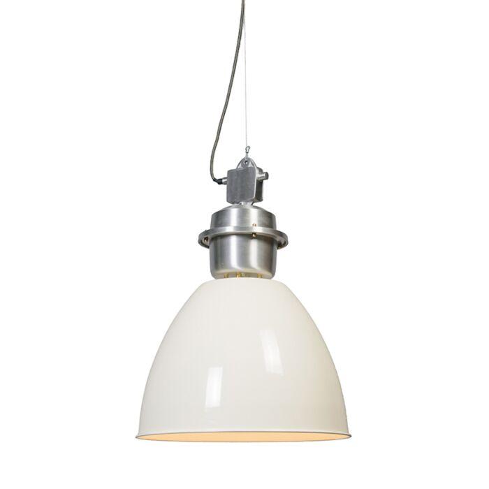 Taklampa-'Dazzle'-Industriell-benvit/aluminium---Passande-för-LED-/-Inomhus