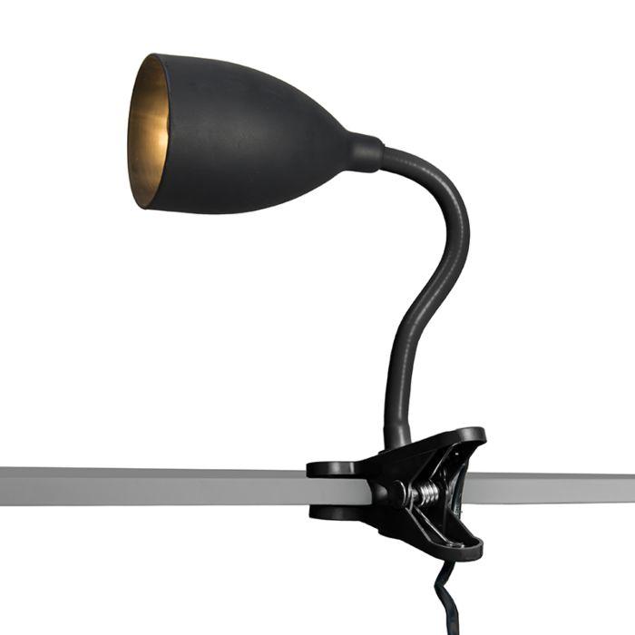Klämlampa-'Young-Flex'-Moderna-svart/polyester---Passande-för-LED-/-Inomhus