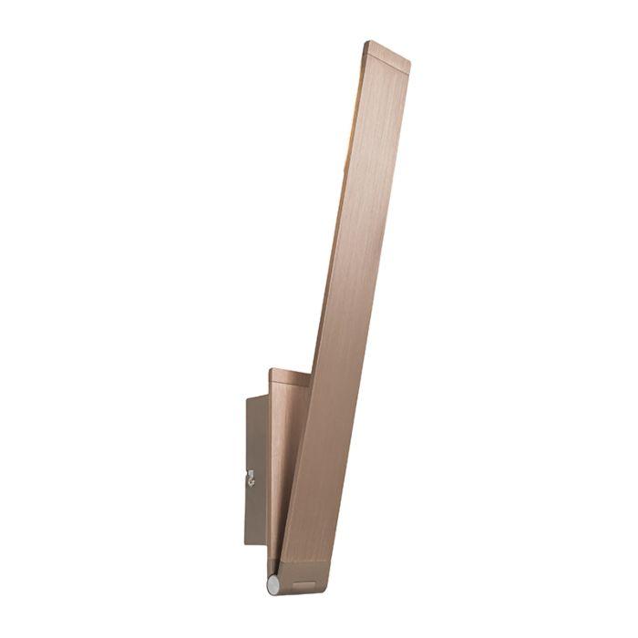 Vägglampa-'Libro'-Moderna-guld/aluminium---LED-inkluderat-/-Inomhus