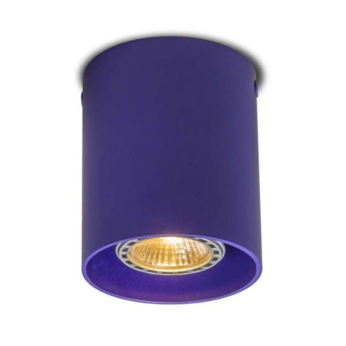 Plafond-strålkastare-'Tubo-1'-Moderna-lila/aluminium---Passande-för-LED-/-Inomhus