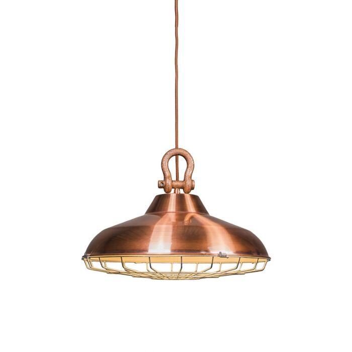 Taklampa-'Strijp'-Lantlig-koppar---Passande-för-LED-/-Inomhus