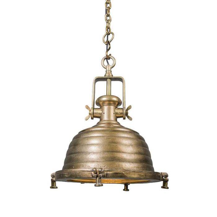 Taklampa-'Fort-Raw-L'-Industriell-brons/nickel---Passande-för-LED-/-Inomhus