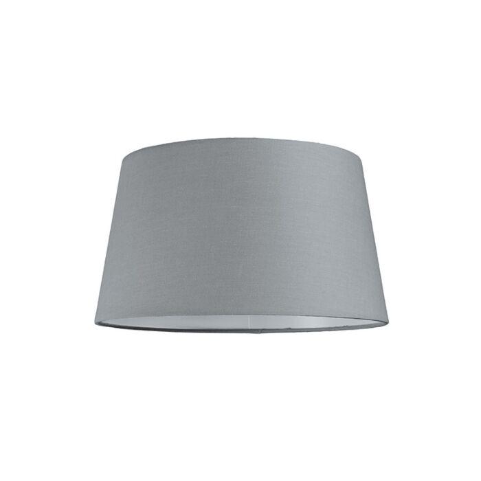 Lampskärm-'30cm-R-SU-E27'-Nej-grå/tyg-Passande-för-LED