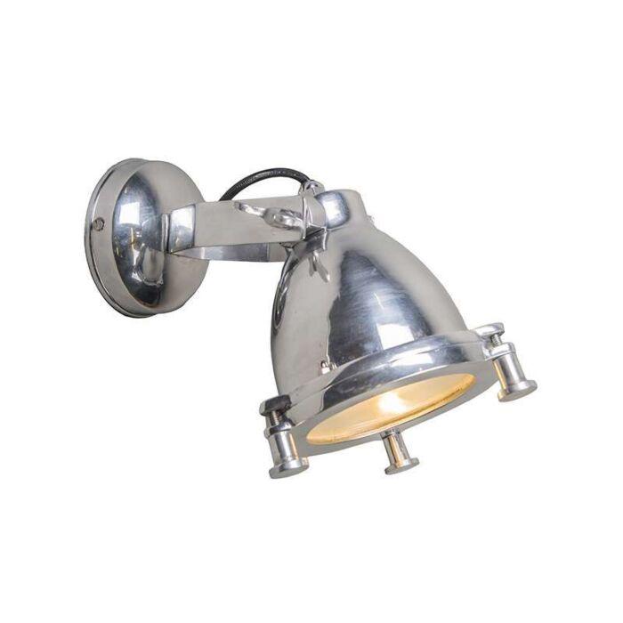 Vägglampa-'Raw-II'-Industriell-krom/nickel---Passande-för-LED-/-Inomhus