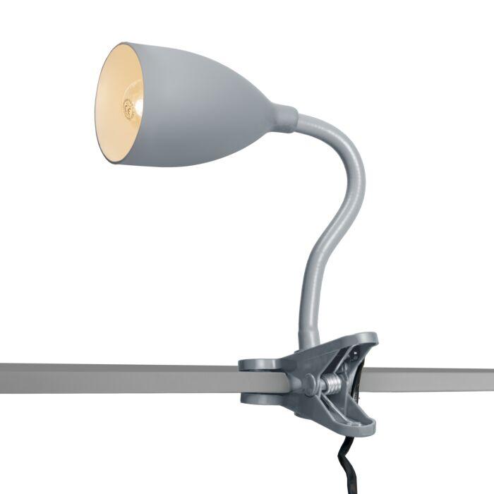 Klämlampa-'Young-Flex'-Moderna-grå/polyester---Passande-för-LED-/-Inomhus