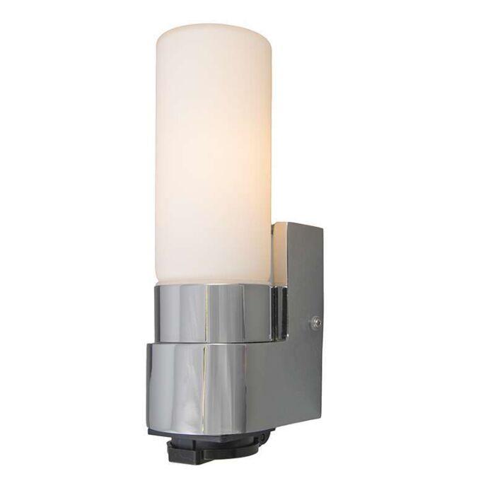 Vägglampa-'Midas-I'-Moderna-krom/rostfritt-stål---Passande-för-LED-/-Inomhus,-Badrum