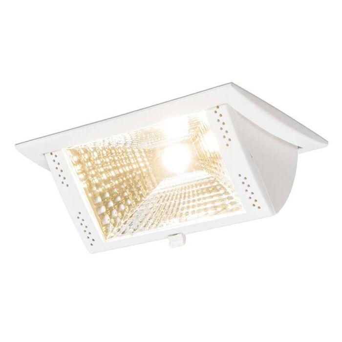 Stor-spotlight/downlight-'Ruler-II-S'-Moderna-vit/aluminium-LED-inkluderat