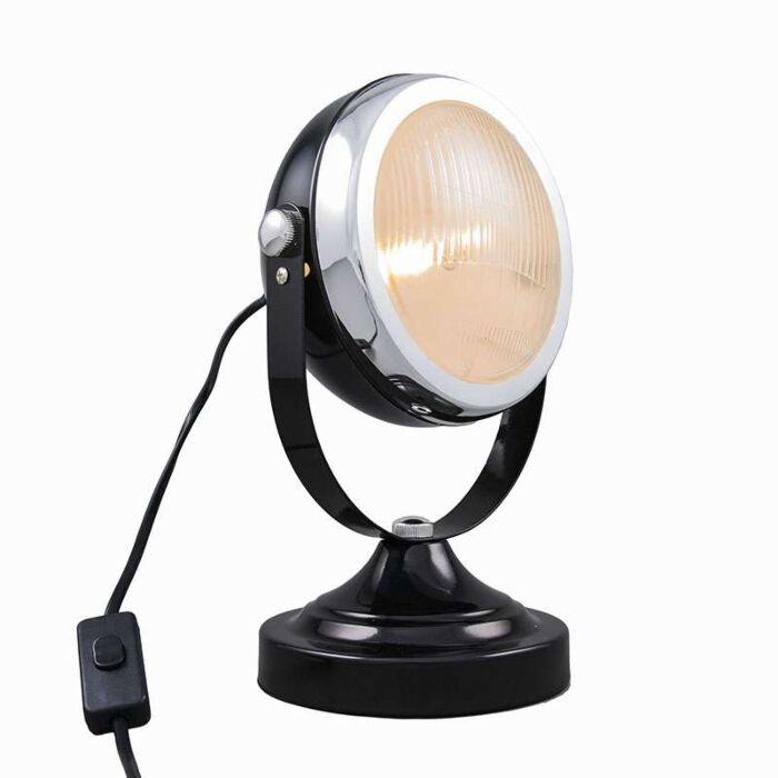 Skrivbordslampa-'Biker'-Retro-svart/metall---Passande-för-LED-/-Inomhus