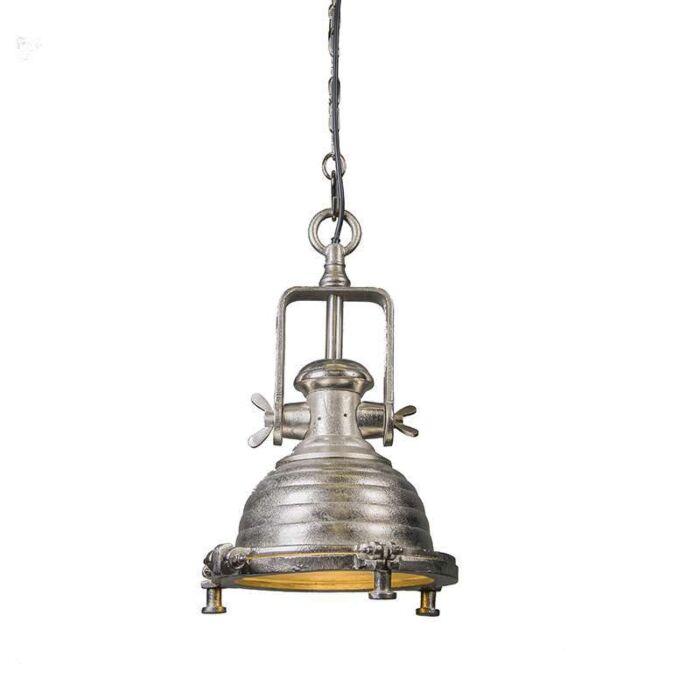 Taklampa-'Fort-Raw-S'-Industriell-stål/nickel---Passande-för-LED-/-Inomhus