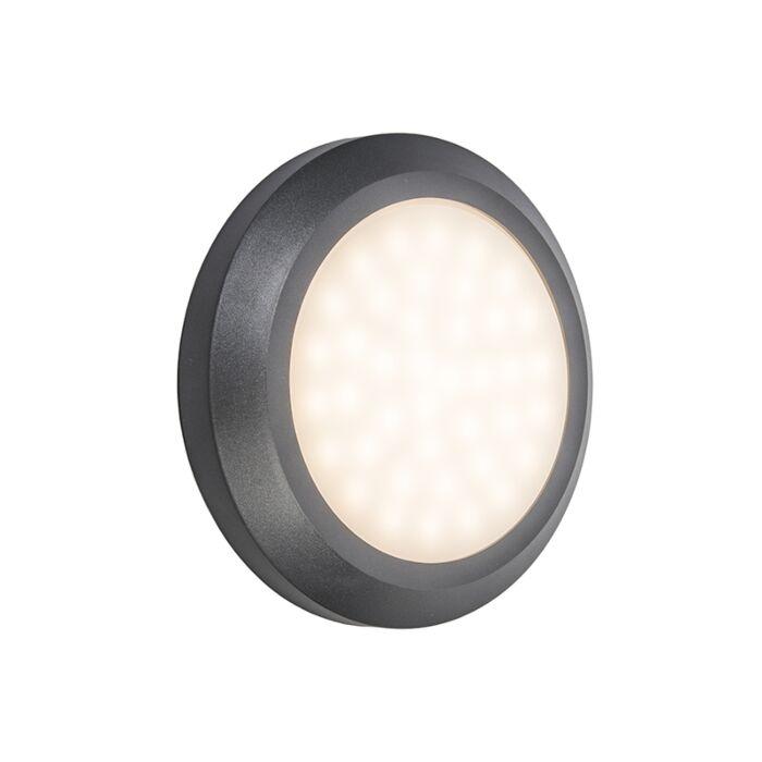 Vägglampa-'Daystar'-Moderna-grafit/polyester---LED-inkluderat-/-Utomhuslampa,-Inomhus,-Badrum