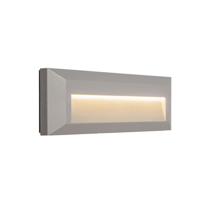 Vägglampa-'Rock-1'-Moderna-grå/polyester---LED-inkluderat-/-Utomhuslampa,-Inomhus