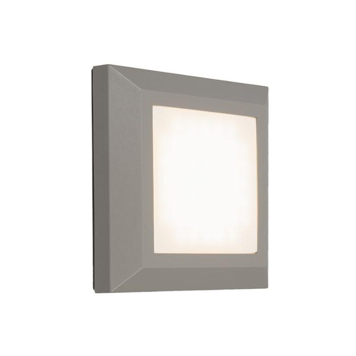 Vägglampa-'Gem-1'-Moderna-grå/polyester---LED-inkluderat-/-Utomhuslampa,-Inomhus,-Badrum