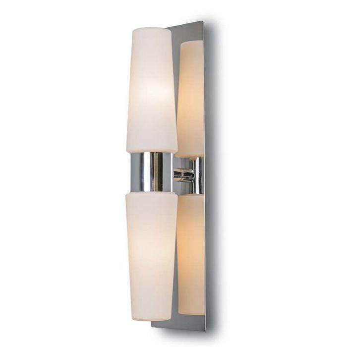 Vägglampa-'Allure-II'-Moderna-krom/rostfritt-stål---Passande-för-LED-/-Inomhus,-Badrum