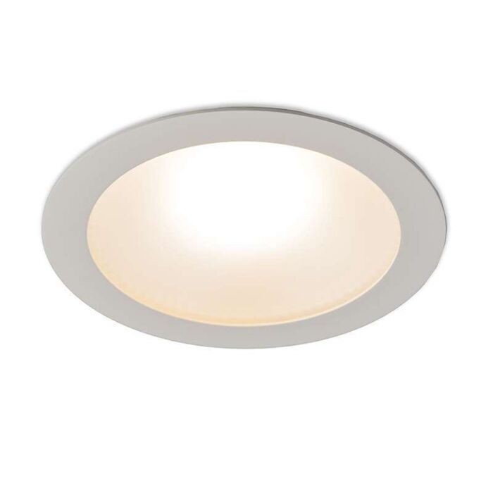 Stor-spotlight/downlight-'Invaser-20W'-Moderna-vit/aluminium-LED-inkluderat