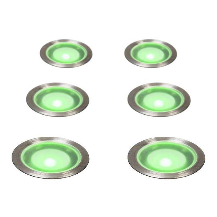 Spotlight/downlight-'Guard-6-IP67'-Moderna-rostfritt-stål---LED-inkluderat-/-Utomhuslampa,-Inomhus,-Badrum