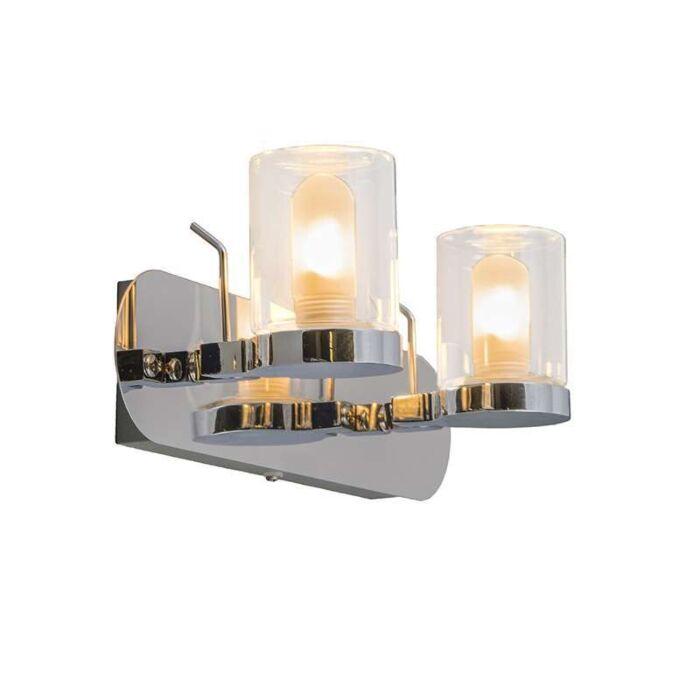 Plafond-strålkastare-'Giulia-2'-Moderna-krom/rostfritt-stål---Passande-för-LED-/-Inomhus,-Badrum