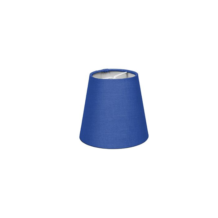Skärm-med-glödlampsfäste-'12/11/8-R-SC-E14'-Nej-blå/tyg