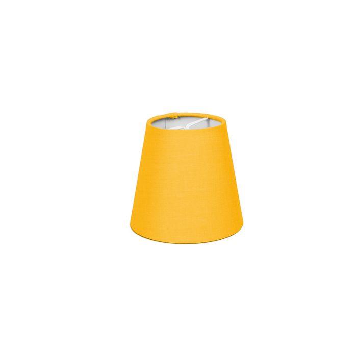 Skärm-med-glödlampsfäste-'10cm-R-SC'-Nej-gul/tyg