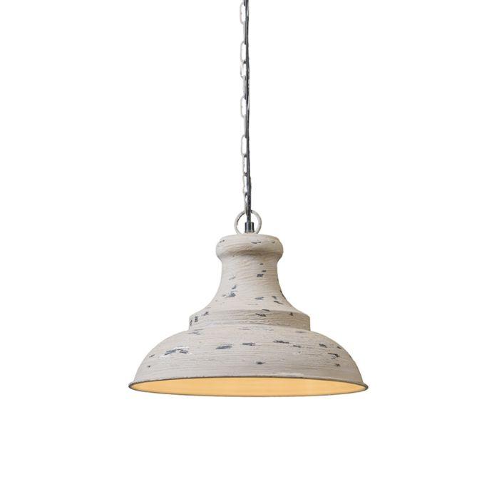 Taklampa-'Iron-III'-Lantlig-grå/metall---Passande-för-LED-/-Inomhus