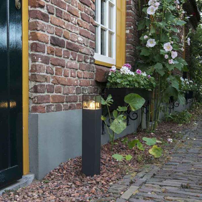 Modern-stående-utomhuslampa-50-cm-antracit-IP44---Danmark