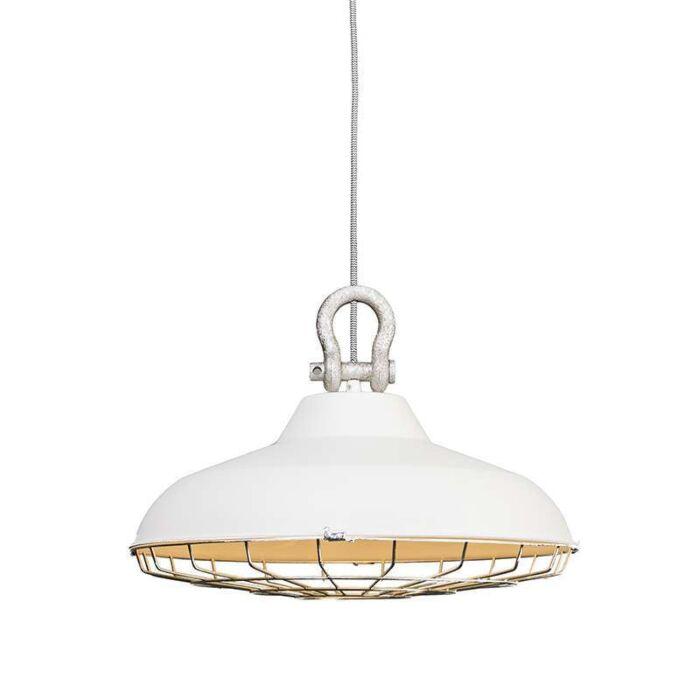 Taklampa-'Strijp'-Industriell-vit/metall---Passande-för-LED-/-Inomhus