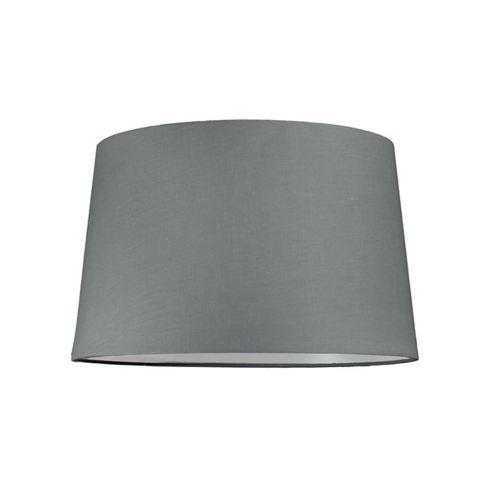 Lampskärm-'40cm-R-SU-E27'-Nej-grå/tyg-Passande-för-LED