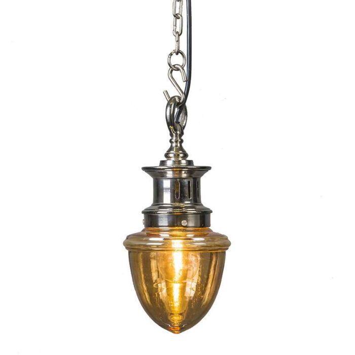 Taklampa-'Knoxville'-Art-Déco-krom/aluminium---Passande-för-LED-/-Inomhus