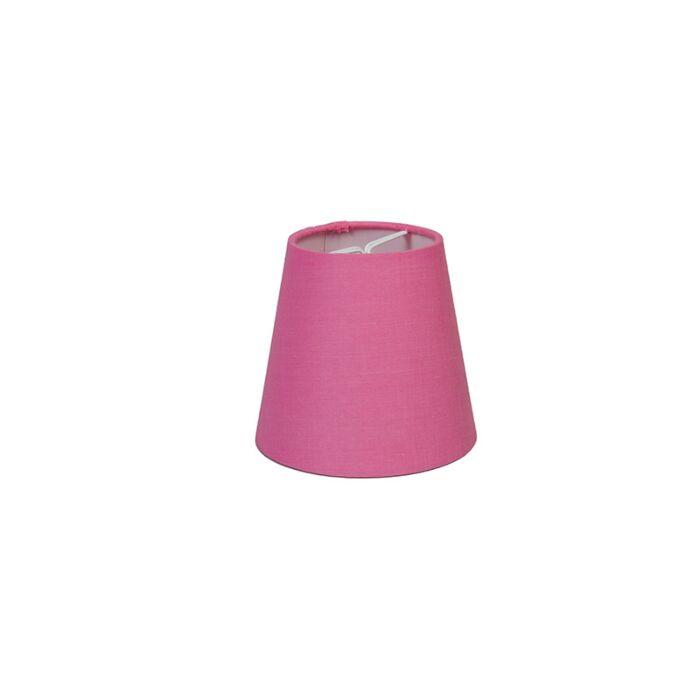 Skärm-med-glödlampsfäste-'10cm-R-SC'-Nej-rosa/tyg