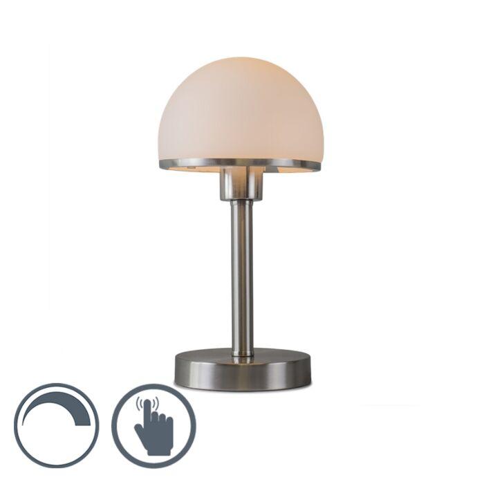 Bordslampa-med-dimmer-'Bauhaus'-Art-Déco-stål---Inomhus
