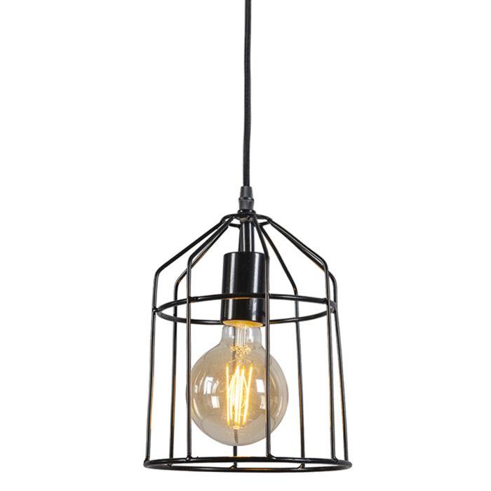 Minimalistisk-taklampa-'Frame-B'-Moderna-svart/metall-Passande-för-LED