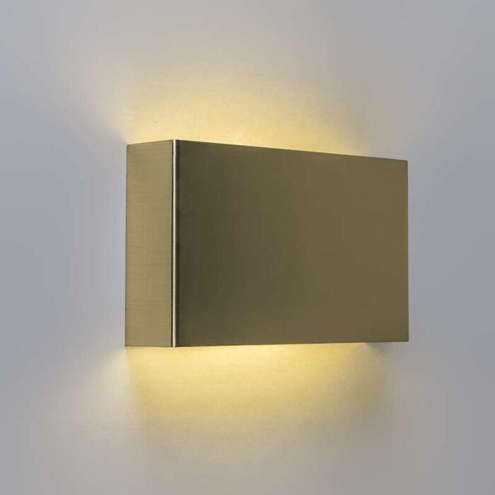 Vägglampa-'Otan'-Lantlig-guld---LED-inkluderat-/-Inomhus