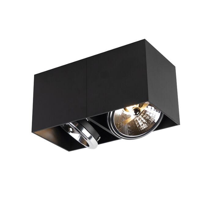 Design-spot-rektangulär-2-ljus-svart-inkl.-2-x-G9---Box