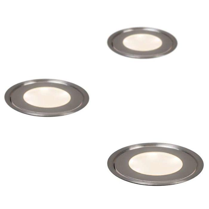 Set-med-3-Försänkta-Spotlights-IP54-WW---Puck