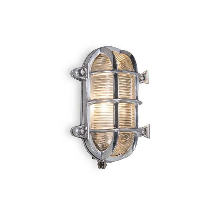 Plafond-och-vägglampa-'Nautica-O'-Klassisk-krom/nickel---Passande-för-LED-/-Utomhuslampa,-Inomhus,-Badrum
