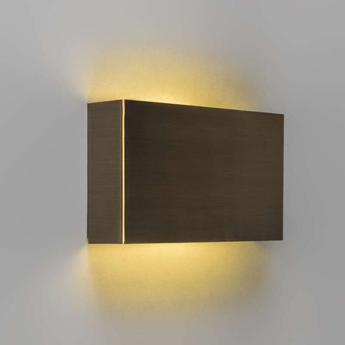Vägglampa-'Otan'-Klassisk-brons---LED-inkluderat-/-Inomhus