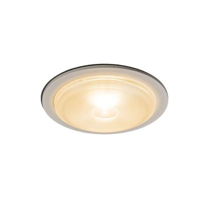 Stor-spotlight/downlight-'Invaser-10W'-Moderna-vit/aluminium---LED-inkluderat-/-Utomhuslampa,-Inomhus,-Badrum