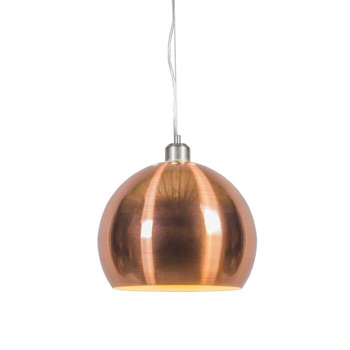 Taklampa-med-skärm-'Globe-28'-Retro-koppar---Passande-för-LED-/-Inomhus