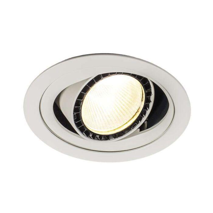 Spotlight/downlight-'Ruler-I'-Moderna-vit/aluminium---LED-inkluderat-/-Inomhus