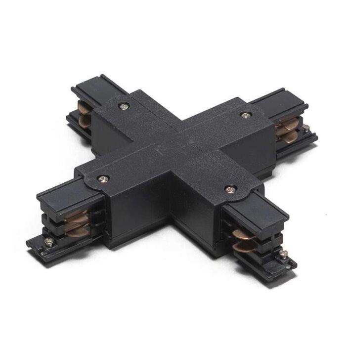 3-fas-samlingsskena-kontakt-'X'-Moderna-svart/polyester-Inomhus