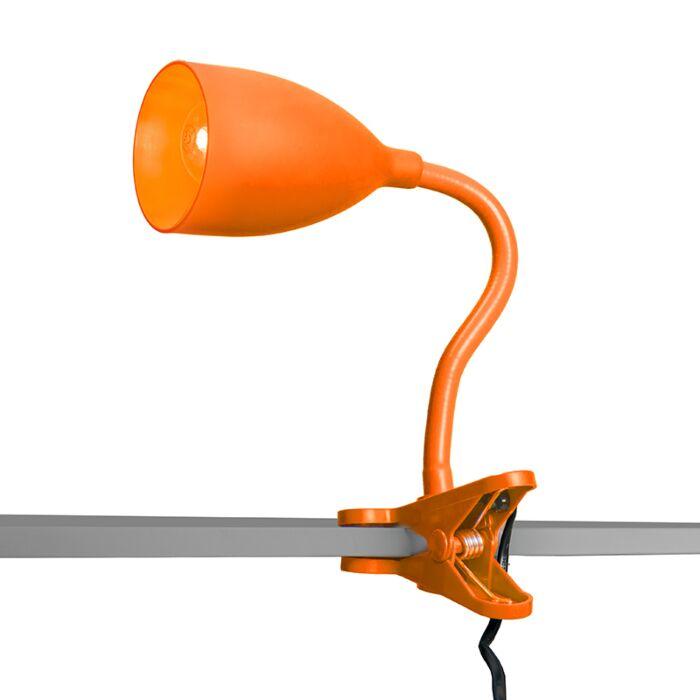 Klämlampa-'Young-Flex'-Moderna-orange/polyester---Passande-för-LED-/-Inomhus
