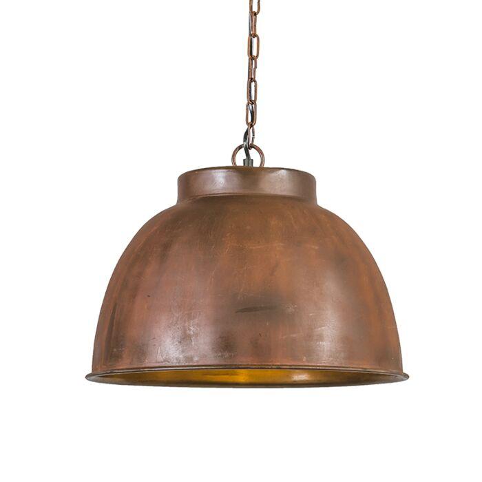 Taklampa-'Vintage-L'-Industriell-brunrost/metall---Passande-för-LED-/-Inomhus