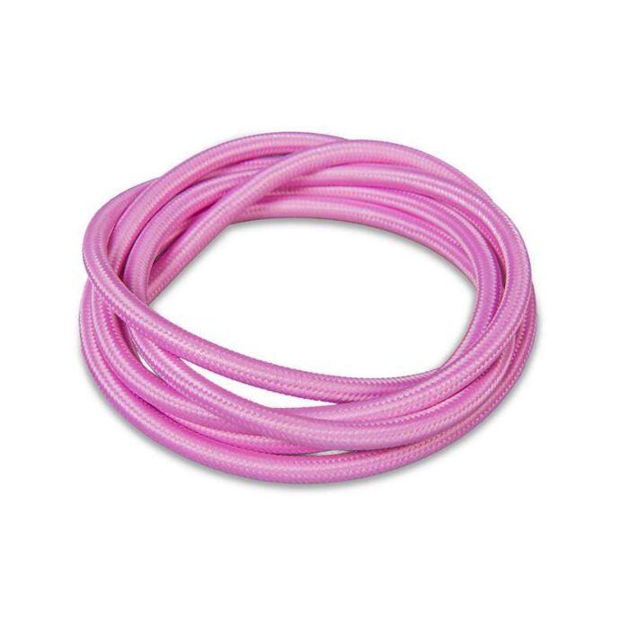 Kabel-'1m'-Nej-rosa/tyg