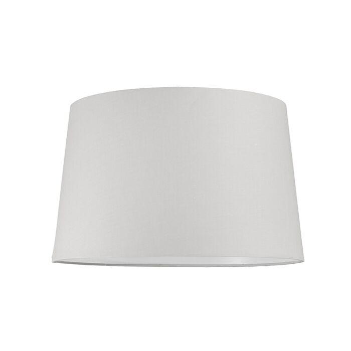 Lampskärm-'40cm-R-SU-E27'-Nej-vit/tyg-Passande-för-LED